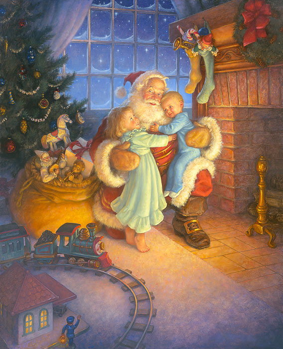 Scott Gustafson - Santa´s Reward -  OPEN EDITION CANVAS Published by the Greenwich Workshop