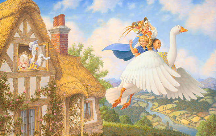 Scott Gustafson - Old Mother Goose -  OPEN EDITION CANVAS Published by the Greenwich Workshop