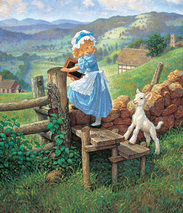 Scott Gustafson - Mary Had a Little Lamb -  OPEN EDITION CANVAS Published by the Greenwich Workshop