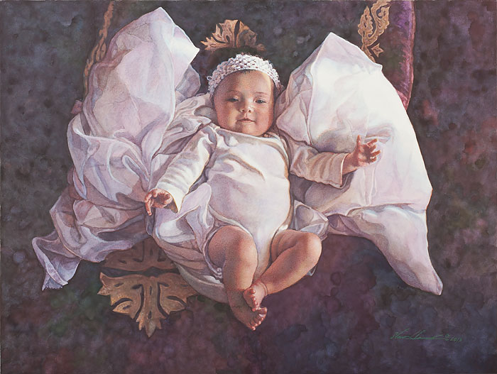Steve Hanks - Angel Baby -  OPEN EDITION CANVAS Published by the Greenwich Workshop