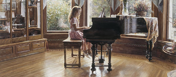 Steve Hanks - The Music Room -  OPEN EDITION PRINT Published by the Greenwich Workshop