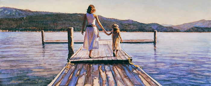 Steve Hanks - Time with Mom -  OPEN EDITION PRINT Published by the Greenwich Workshop