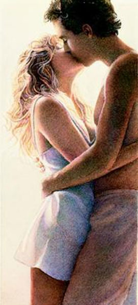 Steve Hanks - The Kiss -  OPEN EDITION PRINT Published by the Greenwich Workshop