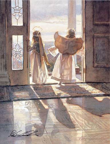 Steve Hanks - Angels Out the Door -  OPEN EDITION PRINT Published by the Greenwich Workshop