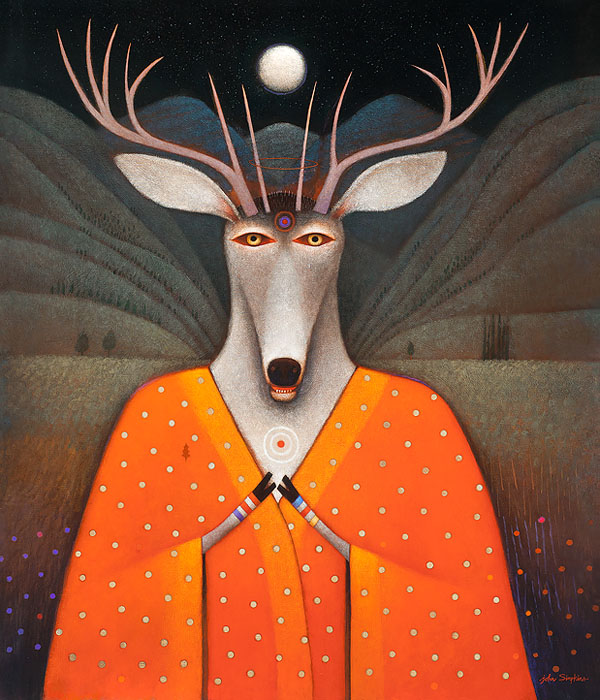 John Simpkins - Deer Edward -  OPEN EDITION CANVAS Published by the Greenwich Workshop