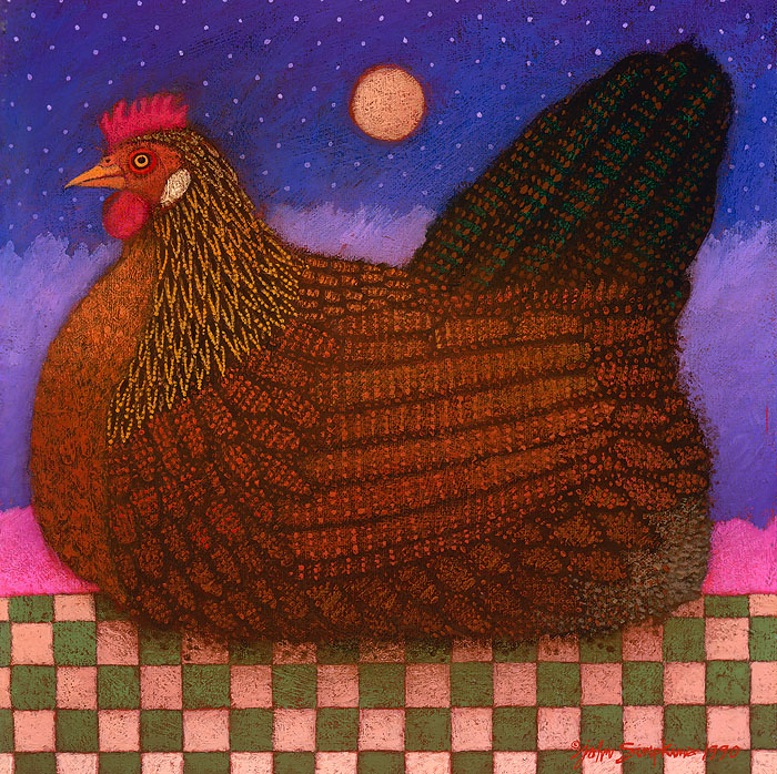 John Simpkins - Americana Hen -  OPEN EDITION CANVAS Published by the Greenwich Workshop