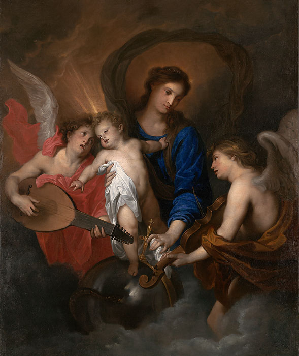 American Museum Collection - Virgin and Child with Music- Making Angels -  OPEN EDITION CANVAS Published by the Greenwich Workshop