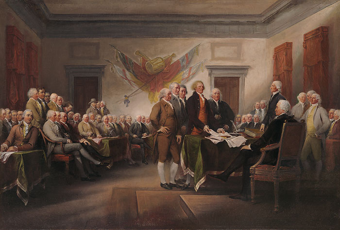 John  Trumbull - Declaration of Independence -  OPEN EDITION CANVAS Published by the Greenwich Workshop