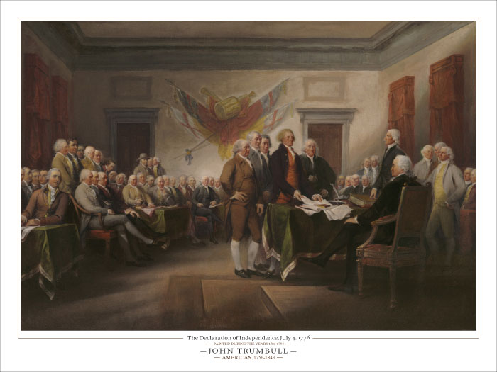 John  Trumbull - Declaration of Independence -  OPEN EDITION PRINT Published by the Greenwich Workshop
