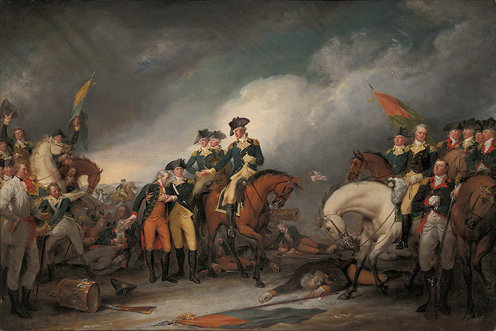 John  Trumbull - The Capture of the Hessians at Trenton, December 26, 1776 -  OPEN EDITION CANVAS Published by the Greenwich Workshop
