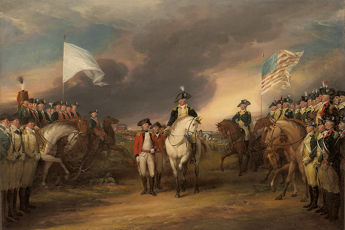 John  Trumbull - The Surrender of Lord Cornwallis at Yorktown, -  OPEN EDITION CANVAS Published by the Greenwich Workshop