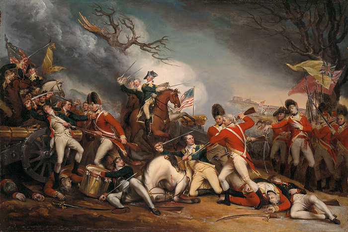 John  Trumbull - The Death of Genreal Mercer at the Battle of Princeton, -  OPEN EDITION CANVAS Published by the Greenwich Workshop