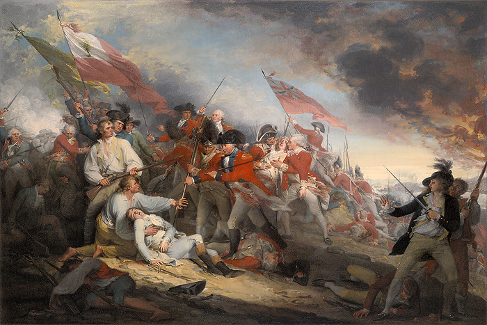 John  Trumbull - The Battle of Bunker´s Hill, June 17, 1775 -  OPEN EDITION CANVAS Published by the Greenwich Workshop