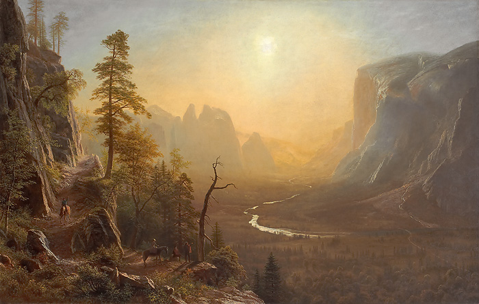 American Museum Collection - Yosemite Valley, Glacier Point Trail -  OPEN EDITION CANVAS Published by the Greenwich Workshop
