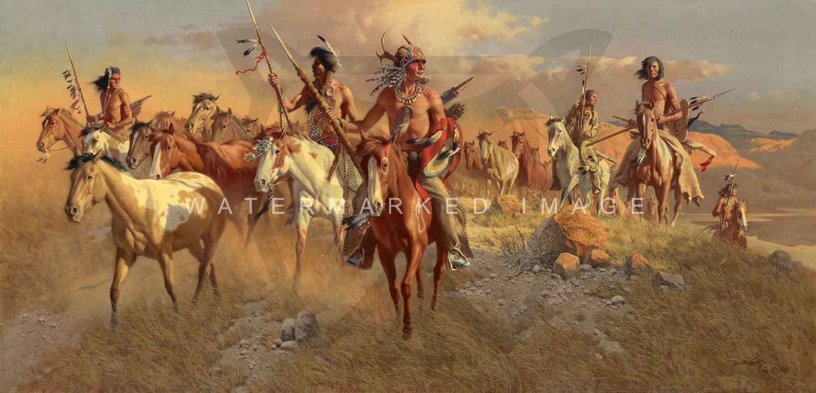 The Raiders By Frank C Mccarthy Masterwork Giclee Canvas Edition
