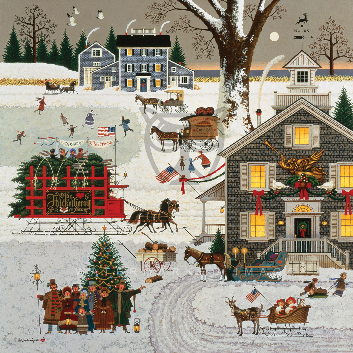 Greenwich Workshop Charles Wysocki Quot Cape Cod Christmas Quot